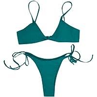 LILICAT!!! Bikini Mujer Vendaje Conjunto Push-up Traje de baño brasileño Ropa de Playa Traje de baño Bikini Sexy con Cordones Bañador de Dos Piezas