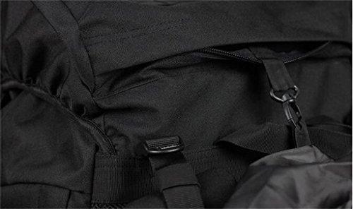 Outdoor-Camping Berg Rucksack groß 80L wasserdichte Tasche Männer und Frauen Grau