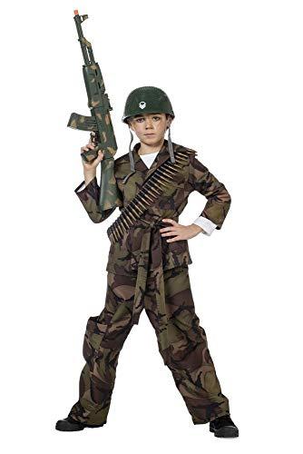 shoperama Kinder-Kostüm Soldat Camouflage Grün Jungen Tarnfarbe Teenager, Größe:152 (Kostüm Für Teenager Jungen)