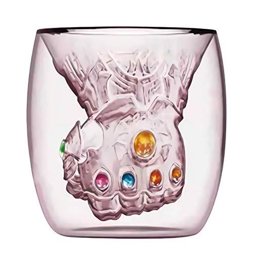 Thanos Infinity Gauntlet Glasschale Kaffeetassen, Sechs Energie Edelsteine   Gauntlet Glaskrüge Avengers Infinity War Gauntlet Kaffeetasse, Milchbecher Geschenke für Marvel-Liebhaber