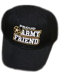 Army Baseball Cap Black Proud Friend U.S. Hat Star Mens Womens Family e9f4748e456