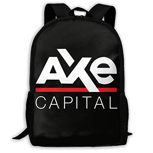 sghshsgh Rucksack für Hochschule,School Backpack Axe Capital Logo 3D Adult Outdoor Leisure Sports Backpack high School Computer Bag