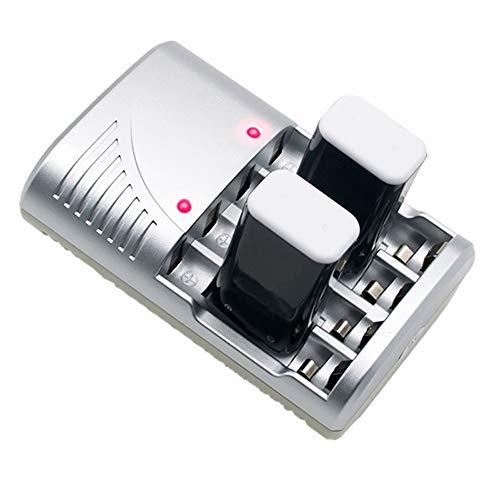 Takkar Akku Akkus ladegerät für AA/AAA / 9V PP3 Ladegerät 4-Fach Batterie Ladegerät Batterieladegerät - Nicht überladen, sicher für die Nutzung - Intelligentes Akku-Ladegerät Ladestation (A) Aa Nicad
