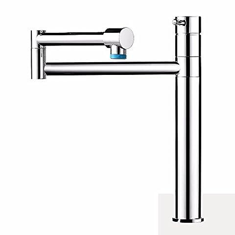 Lostryy en cuivre seule poignée simple trou robinet de cuisine chaude et froide rotatif télescopique pliable Lavabo Robinet