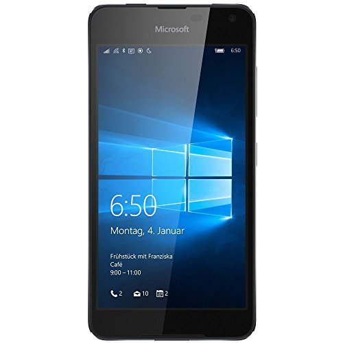 Microsoft Lumia 650 Smartphone (5 Zoll (12,7 cm) Touch-Display, 16 GB Speicher, Windows 10) schwarz (Nokia Windows Phone 8)