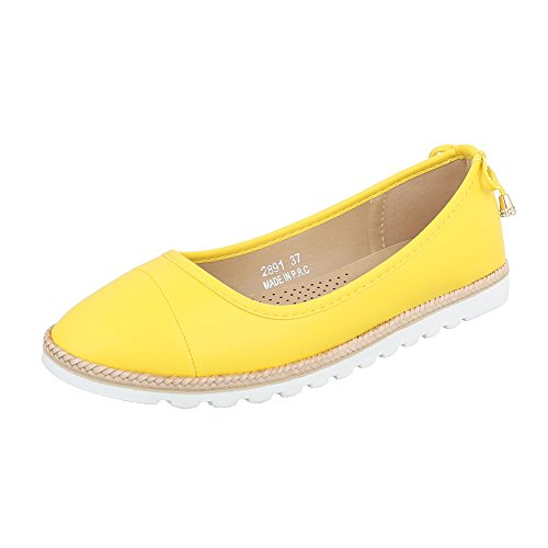 Ital-design Slipper Scarpe Da Donna Slipper Slipper Mocassini Giallo 2891 6289-p