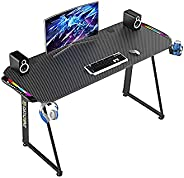 Gaming Desk 797 * 685 * 130mm, Professional RGB Gaming Table, Workstation Home Office Computer Desk with Large