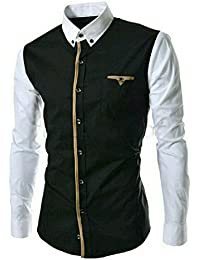 Black Men's Shirts: Buy Black Men's Shirts online at best prices ...