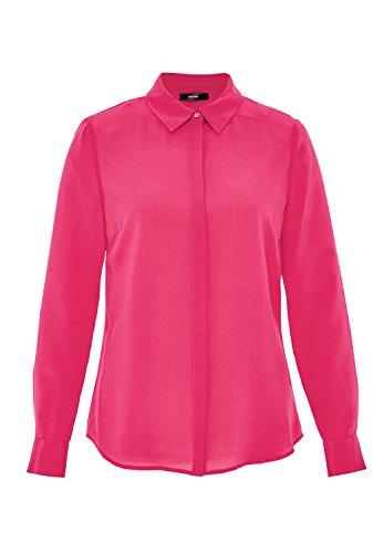 HALLHUBER Hemdbluse Aus Seiden-Crêpe De Chine Leicht Tailliert Pink, 34 (Chine Crêpe Bluse De)