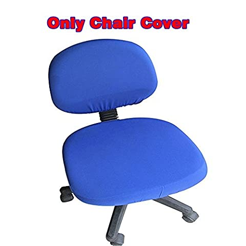 Fittoway Spandex Universal Computer Office Desk Chair Covers Stretch Rotating Pure Color Chair Cover (Royal Blue)