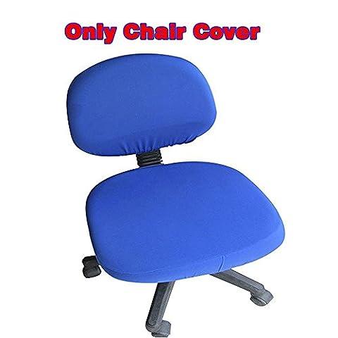 Fittoway Housse de chaise en spandex Housses de chaise de bureau universelles en stretch Chaises rotatives Couleur pure