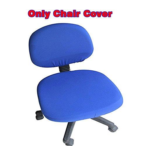 fittoway Elastischer Universal-Computerschreibtischstuhl-Bezug, drehbar, einfarbiger Stuhl-Bezug königsblau (Bow Oversized)