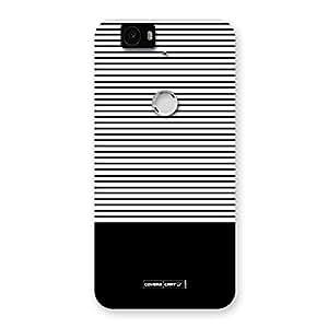 Neo World Black Classy Stripes Back Case Cover for Google Nexus-6P