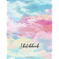 "Sketchbook: Large 8.5""x11"" for Drawing, Sketch, Painting, Watercolor, Creation: 110 pages. Notebook and Sketchbook for Artist,Pencil, Markers, Paint. ( Cloud Watercolor Cover )"
