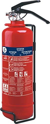 Smartwares BB2E Extintor de Polvo seco con Resistencia al Fuego, Rojo, 2...
