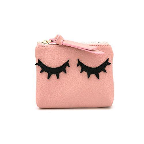 MENKAI Bag borsa schede cerniera donna Pink
