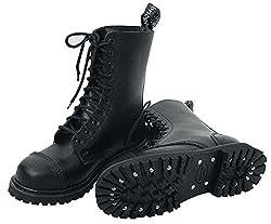 10-Loch Springerstiefel Ranger Stiefel schwarz mit Stahlkappe 42
