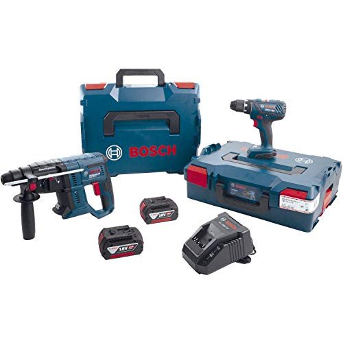 Bosch 0615990K3Z Akku-Set GSR 18V-28 + GBH 18V-20 18,0 Volt / 4,0 Ah (IEC) Li-Ion 7-teilig