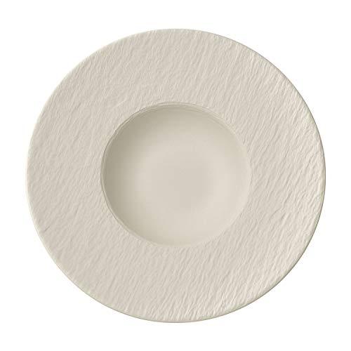 Villeroy & Boch Manufacture Rock Blanc Pastateller, 29 cm, Premium Porzellan, Weiß