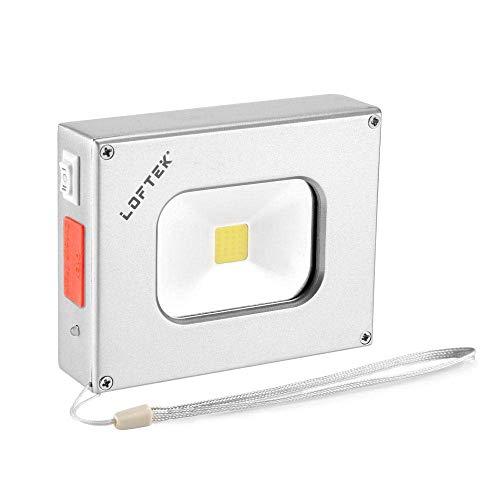 LOFTEK Scheinwerfer LED Handlampe Akku-Flutlichtstrahler 6w 4000mAh wiederaufladbare wasserdicht Flutlicht (silbrig) -