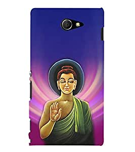ifasho Designer Back Case Cover for Sony Xperia M2 Dual :: Sony Xperia M2 Dual D2302 (Budha Lord Siddharth Buddha Necklace Budha Painting 5 China)