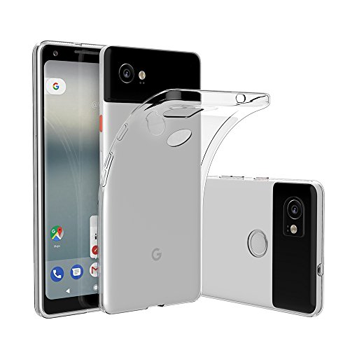 Elekin Google Pixel 2 XL Hülle Case, Google Pixel 2 XL Handyhülle Silikon TPU Crystal Clear Case Cover (Transparent)