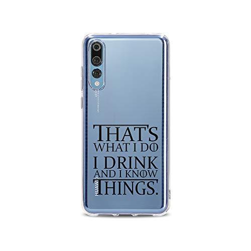 licaso Huawei P20 Pro Handyhülle Smartphone Huawei Case aus TPU mit Drinking Game Print Motiv Slim Design Transparent Cover Schutz Hülle Protector Soft Aufdruck Lustig Funny Druck