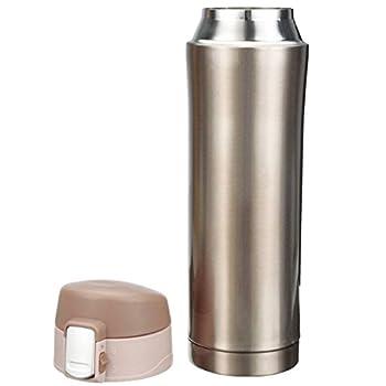 Thermosflasche,camtoa Thermoskanne Trinkflasche Edelstahl 500ml Tragbarer Tee Kaffeeheißgetränk Tasse Für Laufen, Fitness, Yoga, Auto Camping, Reisen, Fischen-führer. 2