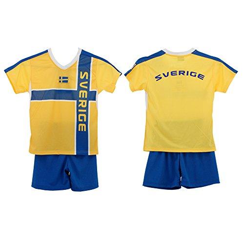 Dynamic Outwear Schweden Kinder-Trikot- Set WM 110-116 S Gelb/Blau