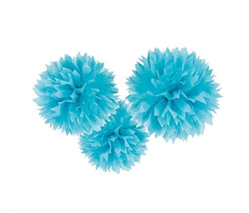 Amscan 3 Fluffy Dekobälle zum Aufhängen Hellblau Preisvergleich