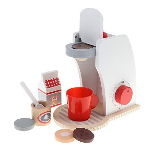 Homyl 1 Stück Mini Küchenspielzeug Teeservice Küchengeschirr aus Holz, Kinder Rollenspielzeug - Kaffeemaschine
