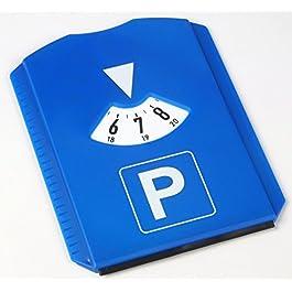 AM/63, 1 disco orario con raschietto per ghiaccio, blu, 11,8 x 15,5 cm, in plastica