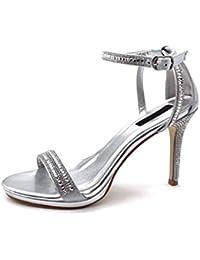 eb0a75adae67d8 Angkorly - Damen Schuhe Pumpe Sandalen - Sexy - Stiletto - Offen - String  Tanga -