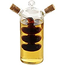 WYYU Dispensador Aceite Oliva y Vinagre,2 en 1 Botellas Vidrio con Corcho