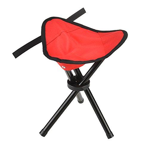 HJR-Holzstuhl Outdoor-Dreieck-Klapphocker, Easy Fishing Hocker, Mini-Hocker, Faltbarer Hocker (Farbe : Rot) - Sitzbank Rot, Outdoor