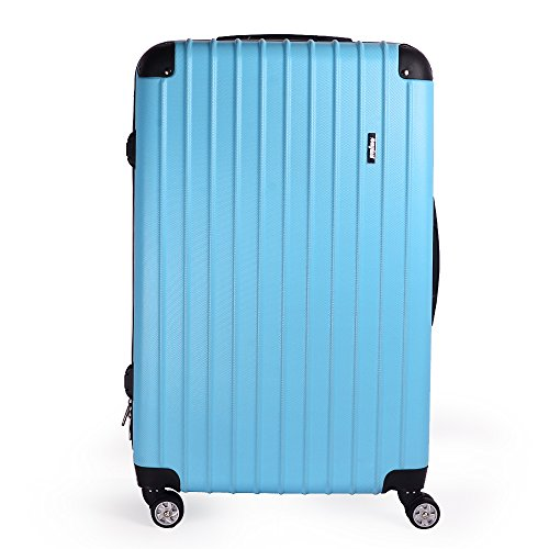 "Sunydeal Hard shell Lightweight Travel Luggage Suitcase 4 Wheel Spinner Trolley Bag ( 28"", Blue )"