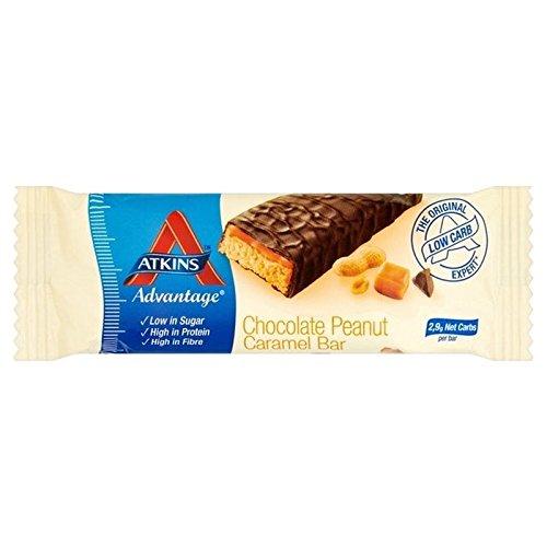 Atkins Vorteil Erdnuss-Karamell 60G - Packung mit 2 - Atkins Karamell