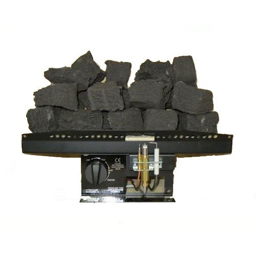 "41Q6K6ctp9L. SS500  - Coals 4 You 16"" Living Flame Gas Fire T2 Tapered Inset Fire Tray Coal Effect UK Manufactured, Black"