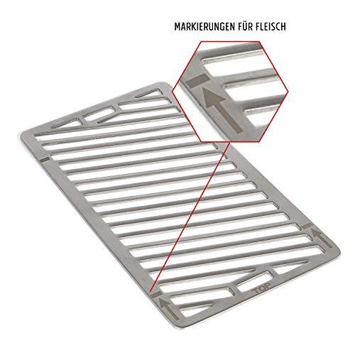 Rustler 800 Hochleistungsgrill | Oberhitze Gasgrill aus Edelstahl für Temperaturen bis zu 800° C mit Piezozünder | Grill | Inkl. Grillrost, Auffangschale und Warmhalteschale | CE-Zertifiziert