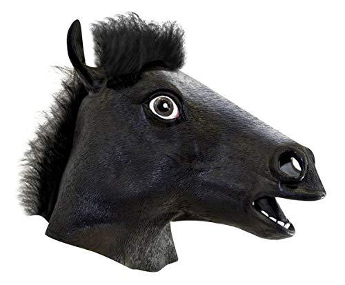 Black Horse Head Mask Costume Accessory