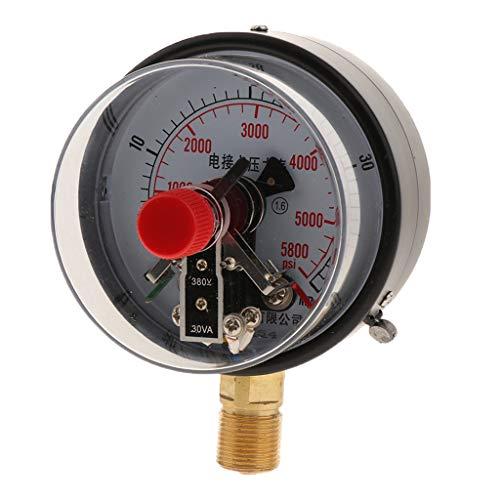Eisen 380V Manometer Druckluftmanometer Vakuummeter Druckmessgerät für Hydraulisch Wasserdruck Öldruck Luftdruck usw. - 40MPa