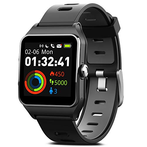MorePro Smart Watches, GPS Sports Watch 17 Sports Modes Fitness Watch 50m IP68 Waterproof, All Day Activity Tracker Pedometer Watch with Heart Monitor Sleep Monitor & Message Reminding