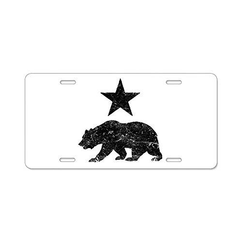 CafePress-Kalifornien Republik Distres-Aluminium Nummernschild, vorne Nummernschild, Vanity Tag -