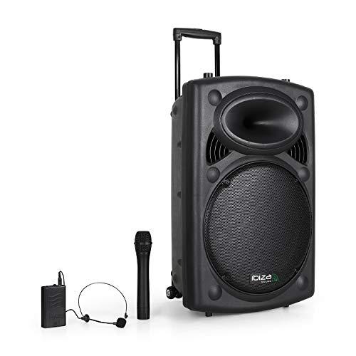 Sistema PA portátil Ibiza Port15-VHF batería USB/SD/MP3