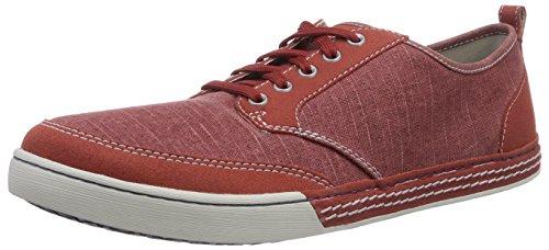 Clarks Slaten Edge Herren Sneakers Rot (Red Canvas)
