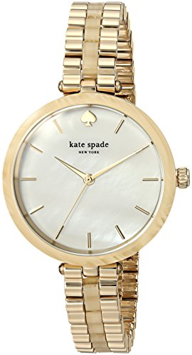 Kate Spade New York Women's 'Holland' Quartz Stainless Steel Casual Watch, Color Gold-Toned (Model: KSW1331)