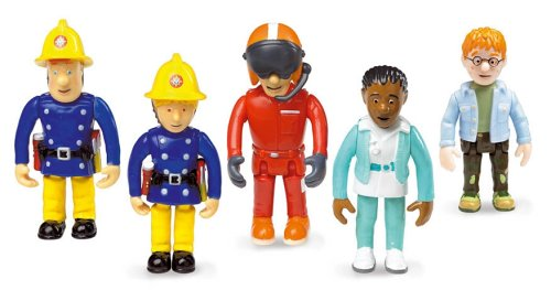 feuerwehrmann sam figuren set Born to Play FS022 - Born to Play - Feuerwehrman Sam - Set mit 5 beweglichen Figuren