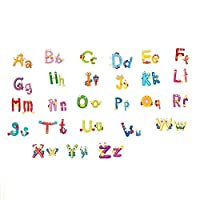 SODIAL(R) Animals Alphabet Letters words Wall Sticker Kids Learning Educational Room Decor