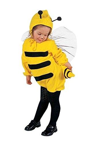 Größe 104-2 - 3 Jahre - Kostüm - Verkleidung - Karneval - Halloween - Biene Insekt - Gelb - Unisex - Kinder