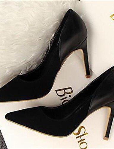 WSS 2016 Chaussures Femme-Bureau & Travail / Soirée & Evénement-Noir / Rose / Rouge / Kaki-Talon Aiguille-Talons-Talons-Synthétique black-us8.5 / eu39 / uk6.5 / cn40